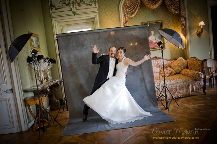 Photo studio backstage de Eline et Matthieu